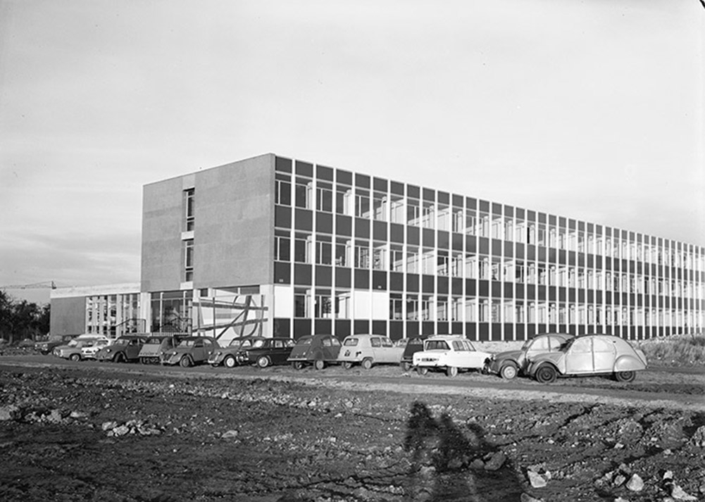 UFR Lettres et Sciences Humaines de Rouen en construction