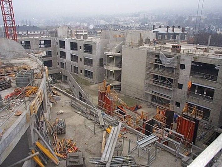 Pasteur en construction, Université de Rouen