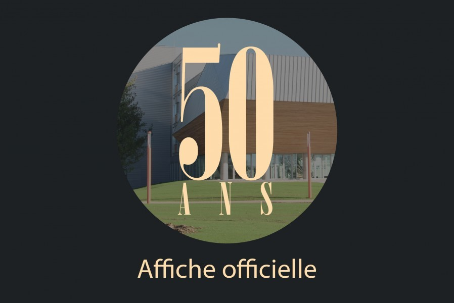 Affiche officielle des 50 ans de l'Université de Rouen